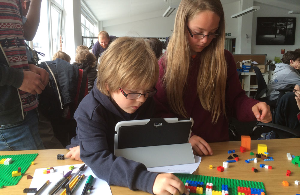 Kids experimenting at one of our coding and making sessions (Photo by Phil Burrowes)